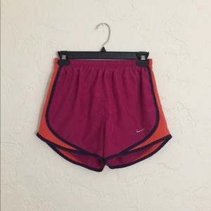 Pink and Orange Nike Shorts